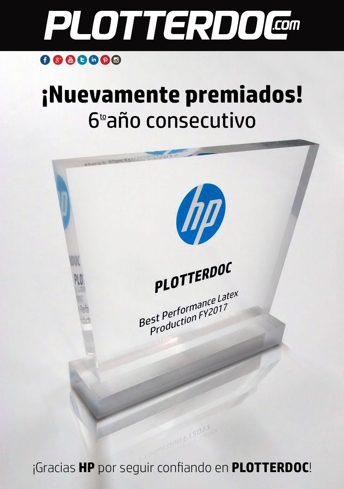 HP PREMA A PLOTTERDOC.COM POR SEXTO AÑO CONSECUTIVO