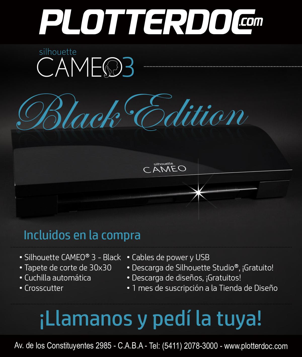 Llegó la nueva CAMEO 3 Black Edition