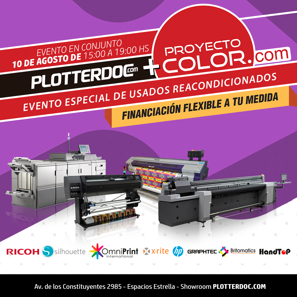 Evento Especial de Usados Reacondicionados - PLOTTERDOC + PROYECTO COLOR