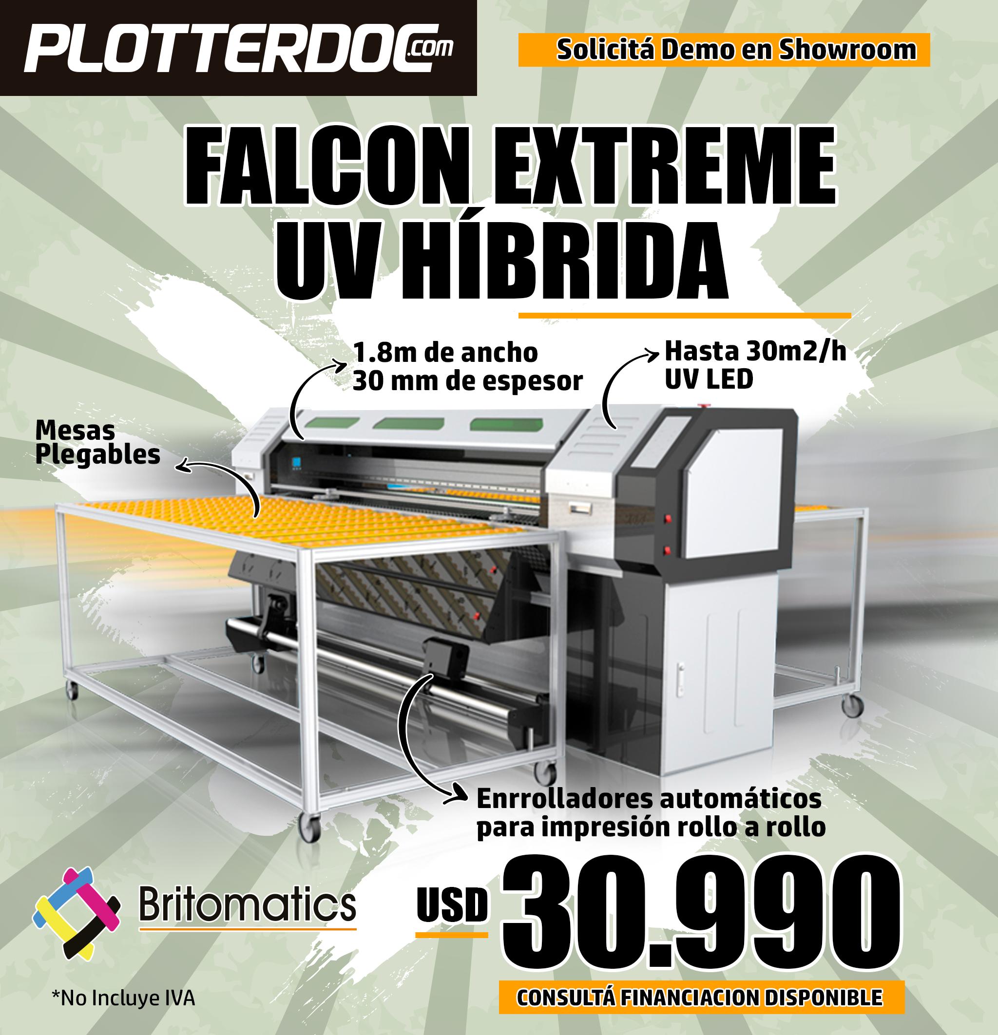 ¡Imprimí sobre rígidos y flexibles con la Falcon UV Híbrida!